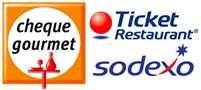 Método de Pago con Cheque Gourmet, Ticket Restaurant, Sodexo en la Fruteria Online